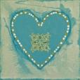 hart van blauw 20x20  €20,-