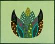 groene lotus 24x30  €99,-